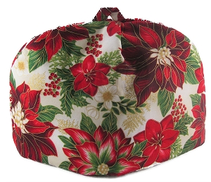 Classic Tea Cozy 2/4 Cup Painted Poinsettia