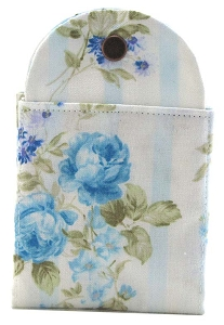 Tea Wallet - Pastel Blue Rose