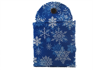 Tea Wallet - Snowflake Blue