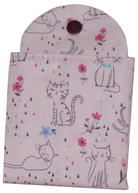 Tea Wallet - Kitty Pink