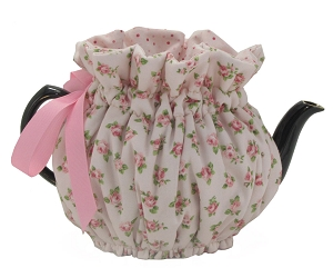 Wrap Around Tea Cozy 4 Cup Baby Pink Roses