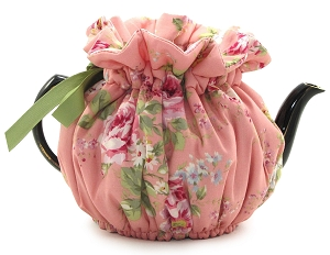 Wrap Around Tea Cozy 8 Cup English Rose Pink