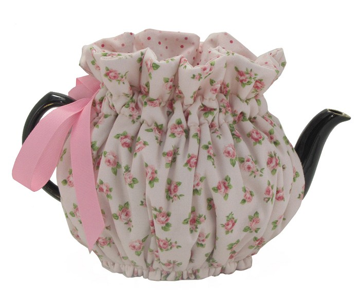 Wrap Around Tea Cozy 6 Cup Baby Pink Roses